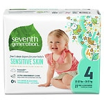 Seventh Generation Baby Free & Clear Diapers, 4- 108 ea