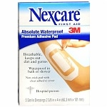 Nexcare Waterproof Transparent Dressing Sterile Adhesive Pads- 5 ea