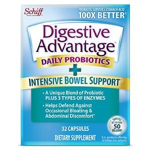 Schiff Digestive Advantage Intensive Bowel Support, Capsules, 32 ea