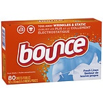Bounce Fabric Softener Dryer Sheets, Fresh Linen- 80 ea
