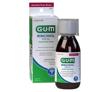 G-U-M Rincinol P.R.N Mouth Sore Rinse- 4 fl oz