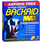 Backaid Maximum Strength Back Relief- 28 ea