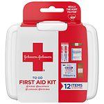 Johnson & Johnson First Aid To Go, Mini First Aid Kit- 1 ea