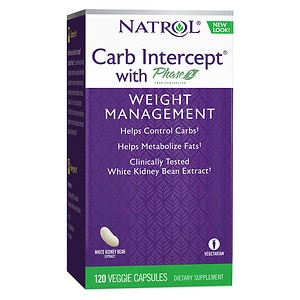 Natrol Carb Intercept with Phase 2 Starch Neutralizer, Capsules