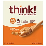 thinkThin High Protein Bar, Creamy Peanut Butter- 2.1 oz