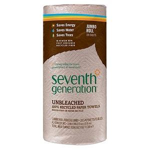 Seventh Generation Natural Paper Towels, Jumbo Roll, 1 roll- 120 sh