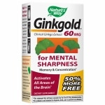 Nature's Way Ginkgold Ginkgo Biloba 60mg, Tablets