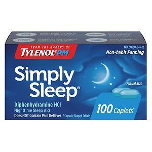 Simply Sleep Nighttime Sleep Aid Capsules- 100 ea