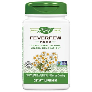 Nature's Way Feverfew Leaves 380 mg, Capsules- 180 ea