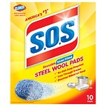 S.O.S Steel Wool Soap Pads- 10 ea