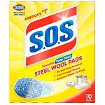 S.O.S Steel Wool Soap Pads- 10 ea