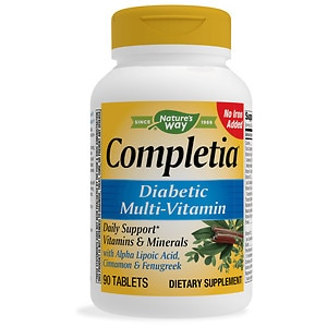 Nature's Way Completia Diabetic Multivitamin Iron Free Tablets