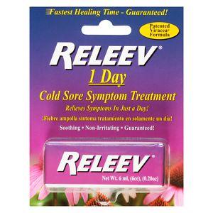 Releev 1-Day Cold Sore Symptom Treatment- .2 oz
