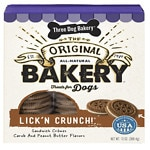 Three Dog Bakery Lick'n Crunch, All-Natural Sandwich Cookie Treats for Dogs, Peanut Butter