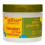 Alba Botanica Hawaiian Oil-Free Moisturizer, Refining Aloe & Green Tea- 3 oz