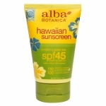 Alba Botanica Hawaiian Natural Sunscreen with Green Tea, SPF 45