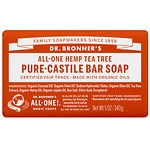 Dr. Bronner's All-One Hemp Pure-Castile Bar Soap, Tea Tree
