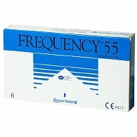 Frequency 55 Sphere Contact Lens- 6 lenses per Box
