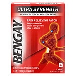 BenGay Ultra Strength Pain Relieving Patch, Large for Back to Hip