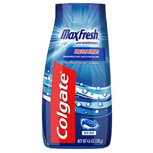 Colgate MaxFresh Fluoride Toothpaste, Whitening Cool Mint- 4.6 oz