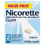 Nicorette Nicotine Gum, 2 mg, Original