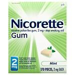 Nicorette Nicotine Gum, 2mg, Mint