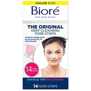 Biore Deep Cleansing Pore Strips, Original- 14 ea