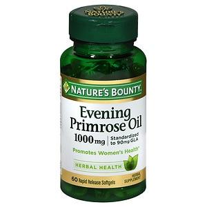 Nature's Bounty Evening Primrose Oil 1000mg, Softgels- 60 ea