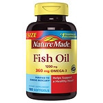 Nature Made Fish Oil, 1200mg, Liquid Softgels- 180 ea