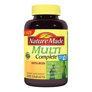 Nature Made Multi Complete with Iron, Tablets, 250 ea