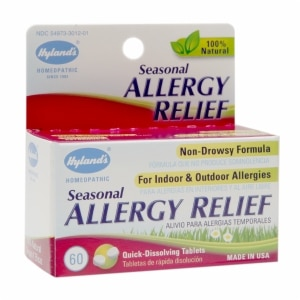 Hyland's Seasonal Allergy Relief Quick-Dissolving Tablets- 60 ea