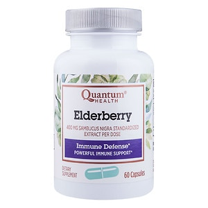 Quantum Health Elderberry Immune Defense 400mg, Herbal Capsules