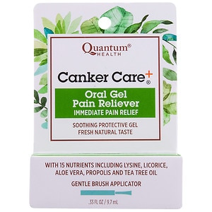 Quantum Health Herbal Canker Care + Oral Pain Reliever- .33 oz