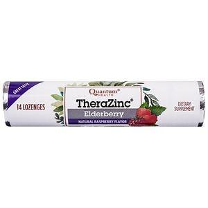 Quantum Health Zinc Elderberry Lozenges, Raspberry, 14 ea