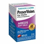 PreserVision Eye Vitamin and Mineral Supplement, with AREDS, Softgels- 60 ea