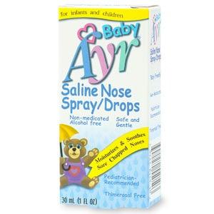 Ayr Baby S Saline Nose Spray Drops Drugstore Com