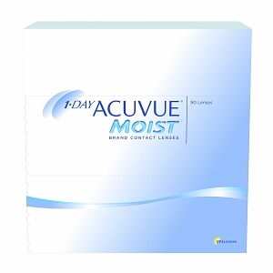 1-Day Acuvue Moist 90 Pk Contact Lens-90 ea