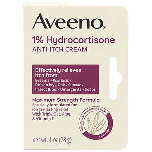 Aveeno Maximum Strength Anti-Itch Cream, 1% Hydrocortisone